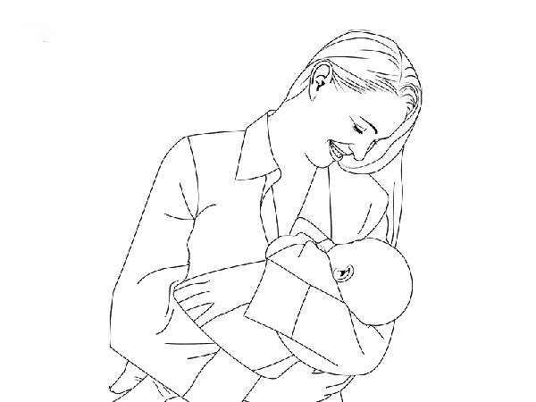 risunok-na-den-materi-47 Стенгазета на День матери своими руками с картинками и фотографиями: Шаблоны для распечатки плаката ко Дню матери в школе и детском саду