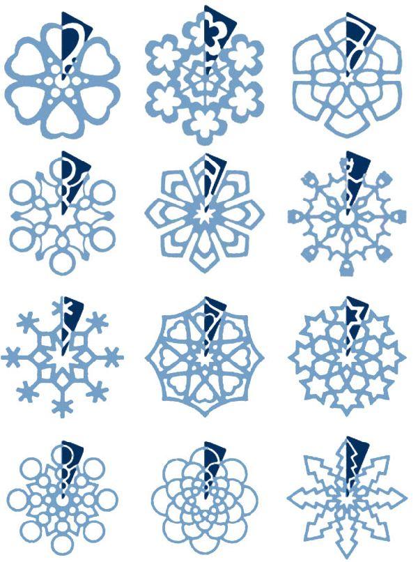 Как вырезать красивые снежинки из бумаги своими руками 85