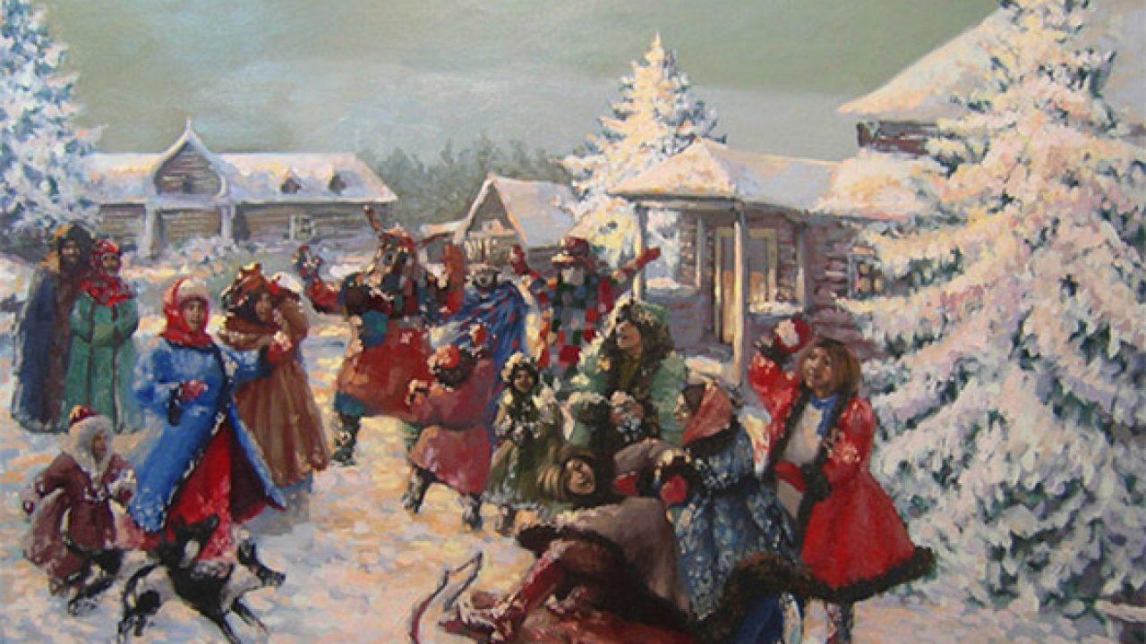 Колядки русские народные на Рождество – короткие, детские, тексты и ноты,  слушать песни на видео
