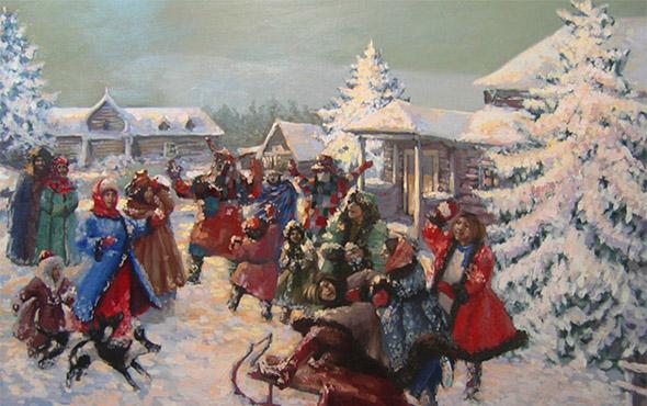 Колядки русские народные на Рождество – короткие, детские. Тексты стихов и песен с нотами рождественских колядок, видео