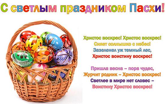 Красивые короткие поздравления с Пасхой 2017 на украинском и русском языке