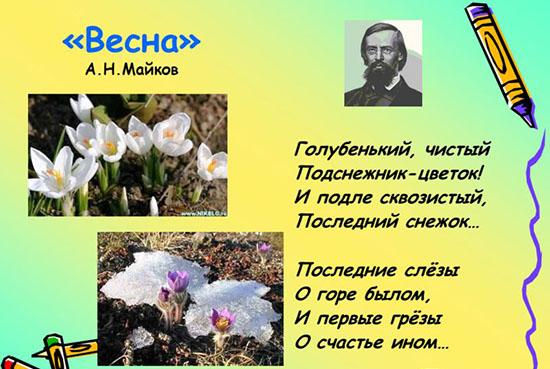 Красивые стихи о весне