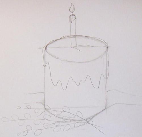 Красивый рисунок на Пасху для детей в школу и детский сад