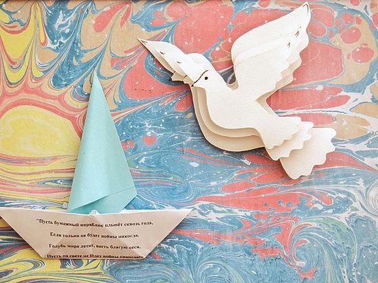 Открытка с голубем своими руками 46