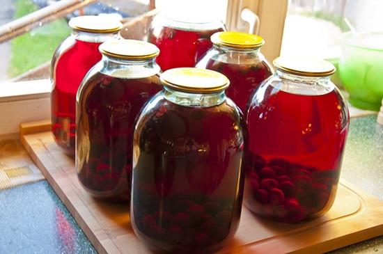 Компот из вишни на зиму — рецепты