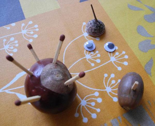 Поделки из желудей для детского сада фото