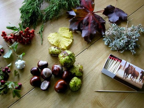 Детские поделки из каштанов на тему Осень