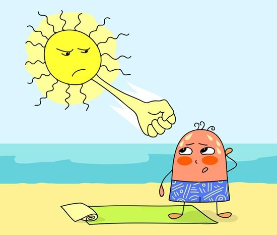 Симптомы солнечного удара и первая помощь