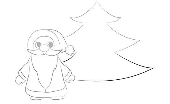 Как нарисовать елку