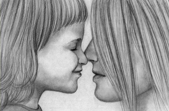 Как нарисовать маму