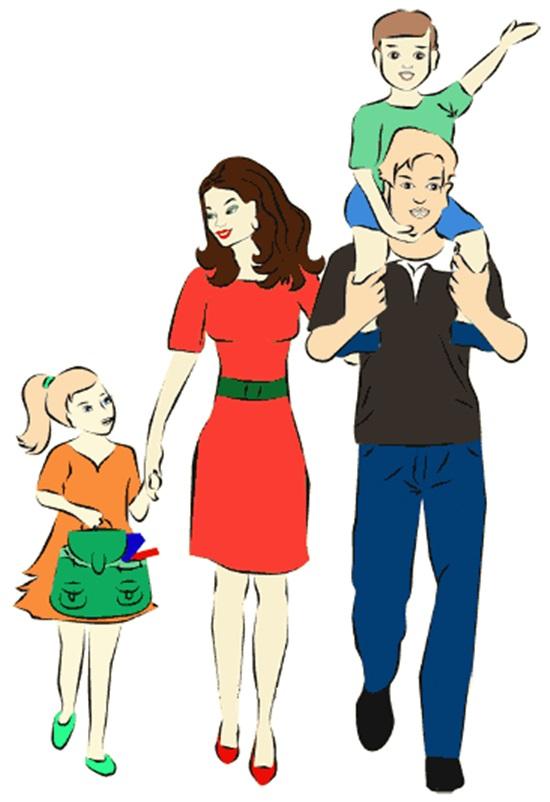 Картинки семья нарисованные