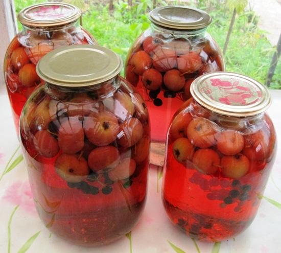 Рецепт компота из свежих яблок на зиму