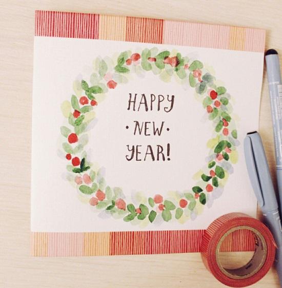 Открытка на Новый 2018 год своими руками