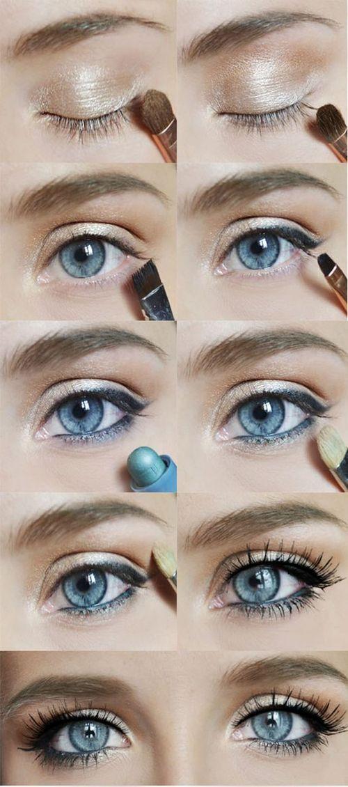 Легкий макияж для зеленых глаз больших глаз