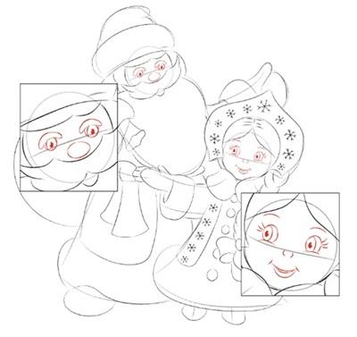 narisovat-noviy-god-2018-28 Как нарисовать открытку на Новый Год поэтапно
