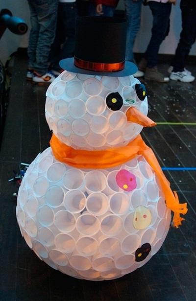 Снеговик из ниток, бумаги и других подручных материалов своими руками на Новый год 2018: мастер-класс с фото по снеговику