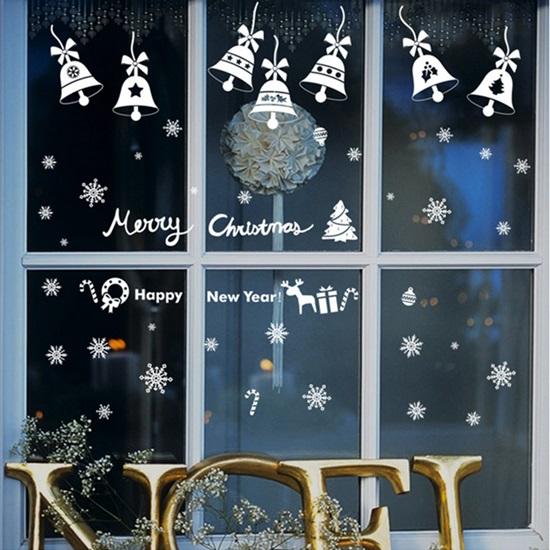 Рисунки на окнах к Новому году 2018