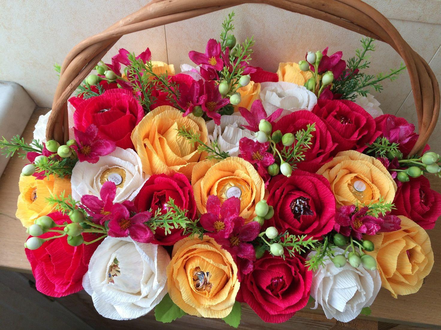 Розы из конфет своими руками с пошаговым фото фото 137