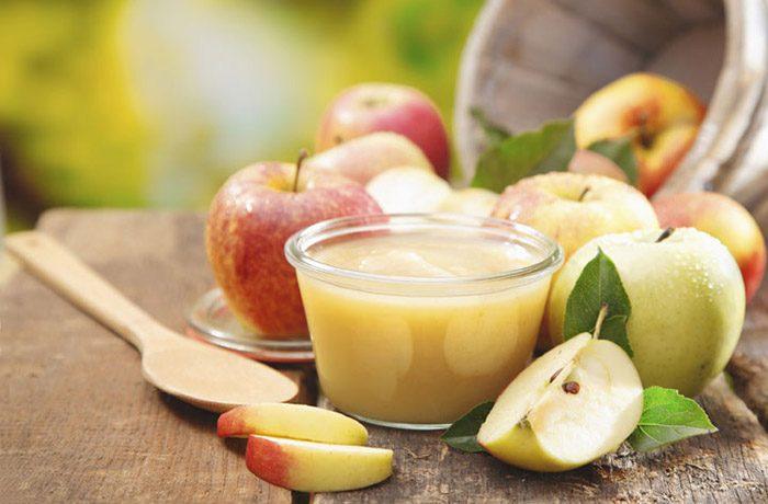Пюре из яблок с сгущенкой на зиму