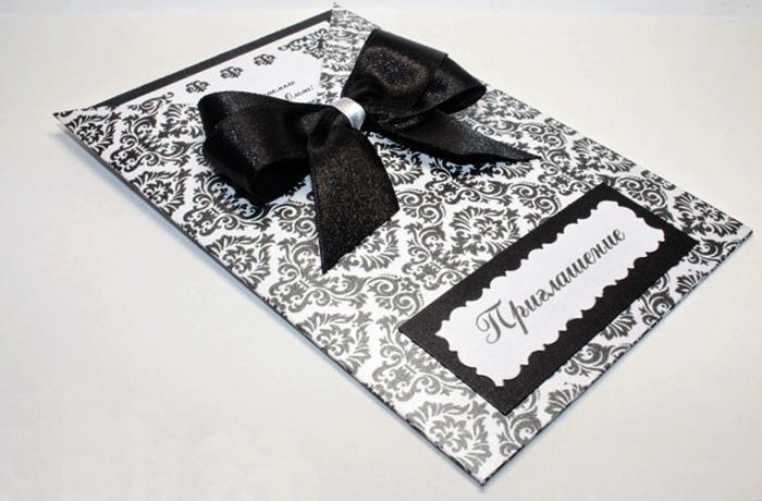 Приглашения на день рождения черно-белые