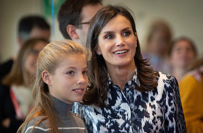 Королева Летиция с дочерью Софией
