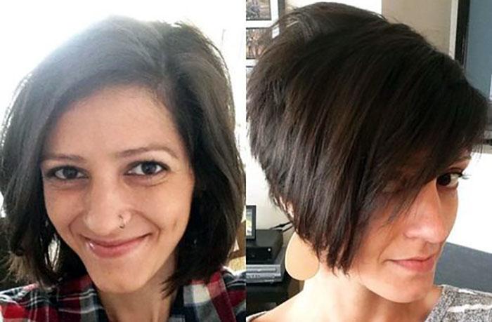 Стрижка пикси для тонких волос: фото