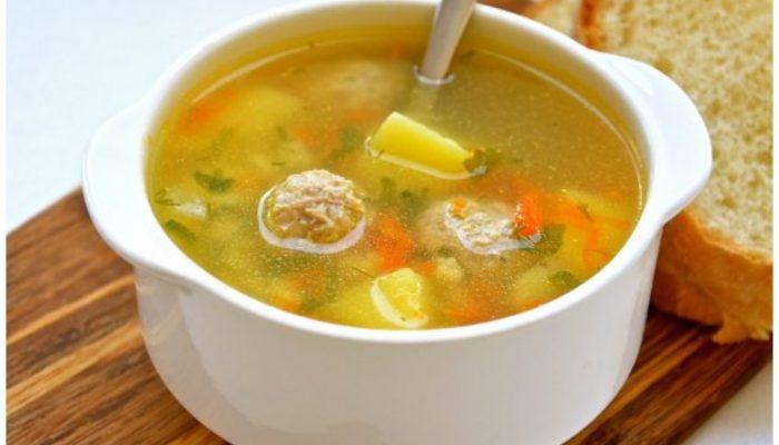 Вкусный суп с фрикадельками за 30 минут