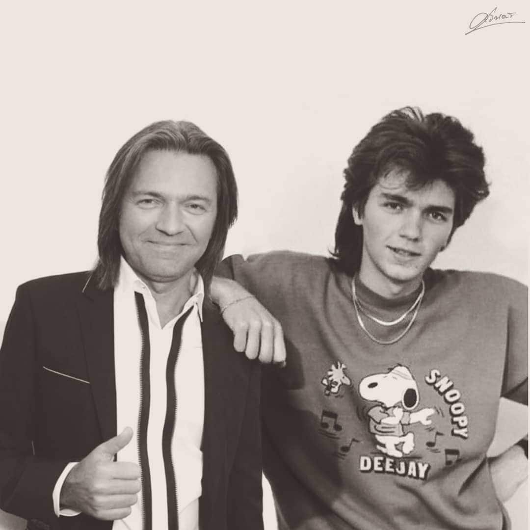 Российские звезды вместе со своим прошлым на одном фото