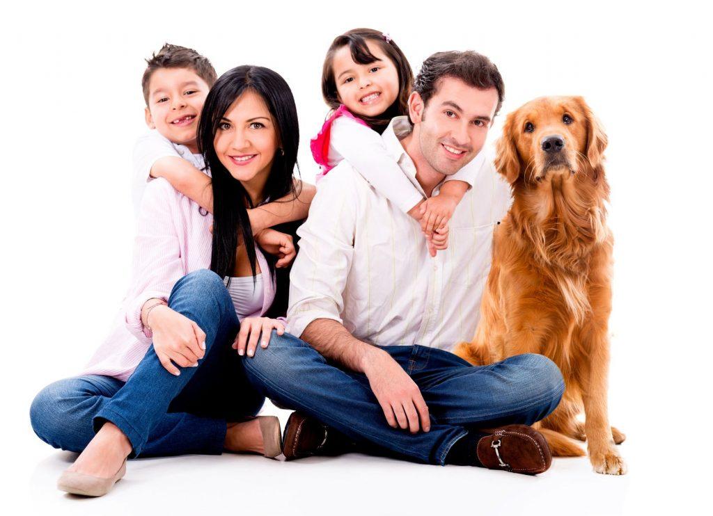 Тест-иллюзия: что вы увидели первым, семью или собаку