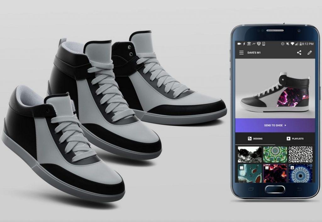 Новые технологии: интерактивная обувь меняет дизайн на ходу