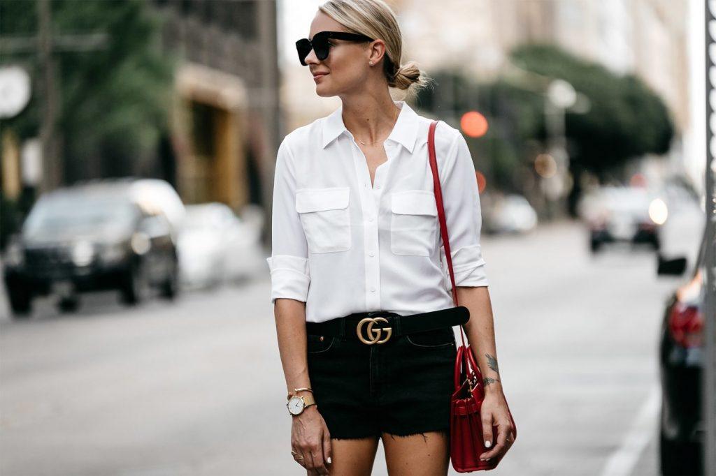 Как носить белую рубашку и не выглядеть скучно?