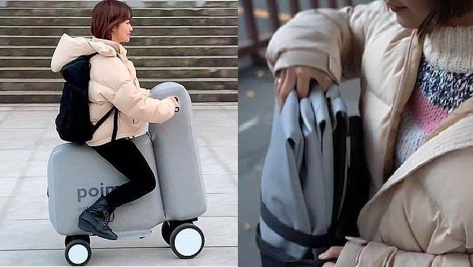 Новое «мобильное счастье»: как надувной электронный велосипед поместить в рюкзак