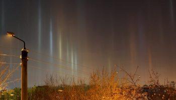 Световые столбы: иногда наблюдатели видят это редкое явление