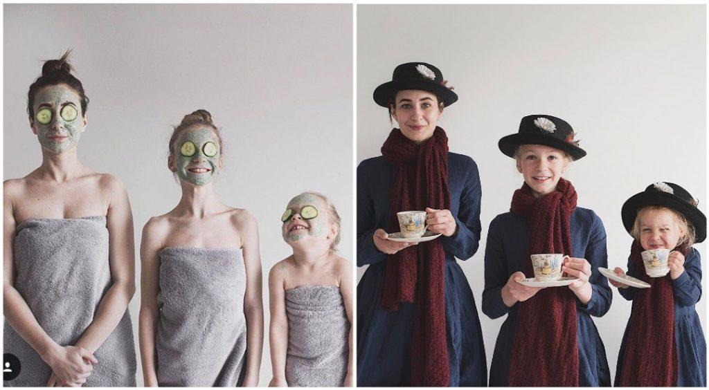 «Улыбочку»: Мама со своими дочками покоряет Интернет фотографиями в одинаковых нарядах. Но одна из них всегда вносит свою «изюминку»