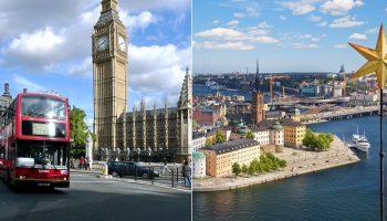 Сравнения аналитиков: влияние Covid19 на экономику Великобритании и Швеции