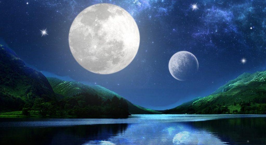 Интересные факты: у древней Земли было две луны и на них происходили землетрясения