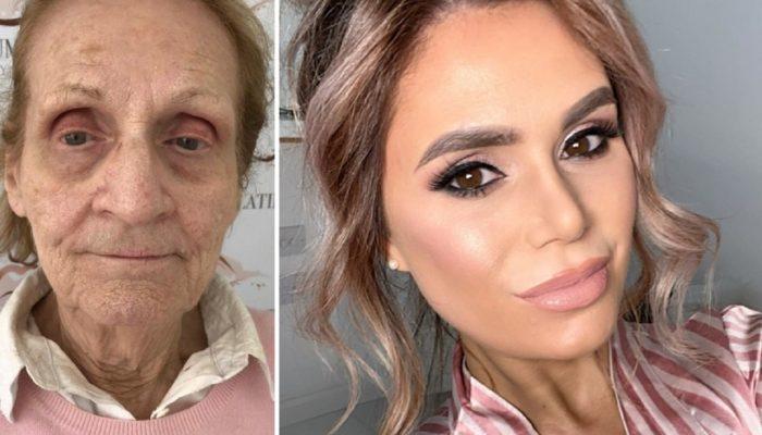 Макияж вместо пластики: визажист донеузнаваемости преобразила свою 80-летнюю тетю и поделилась хитростями макияжа