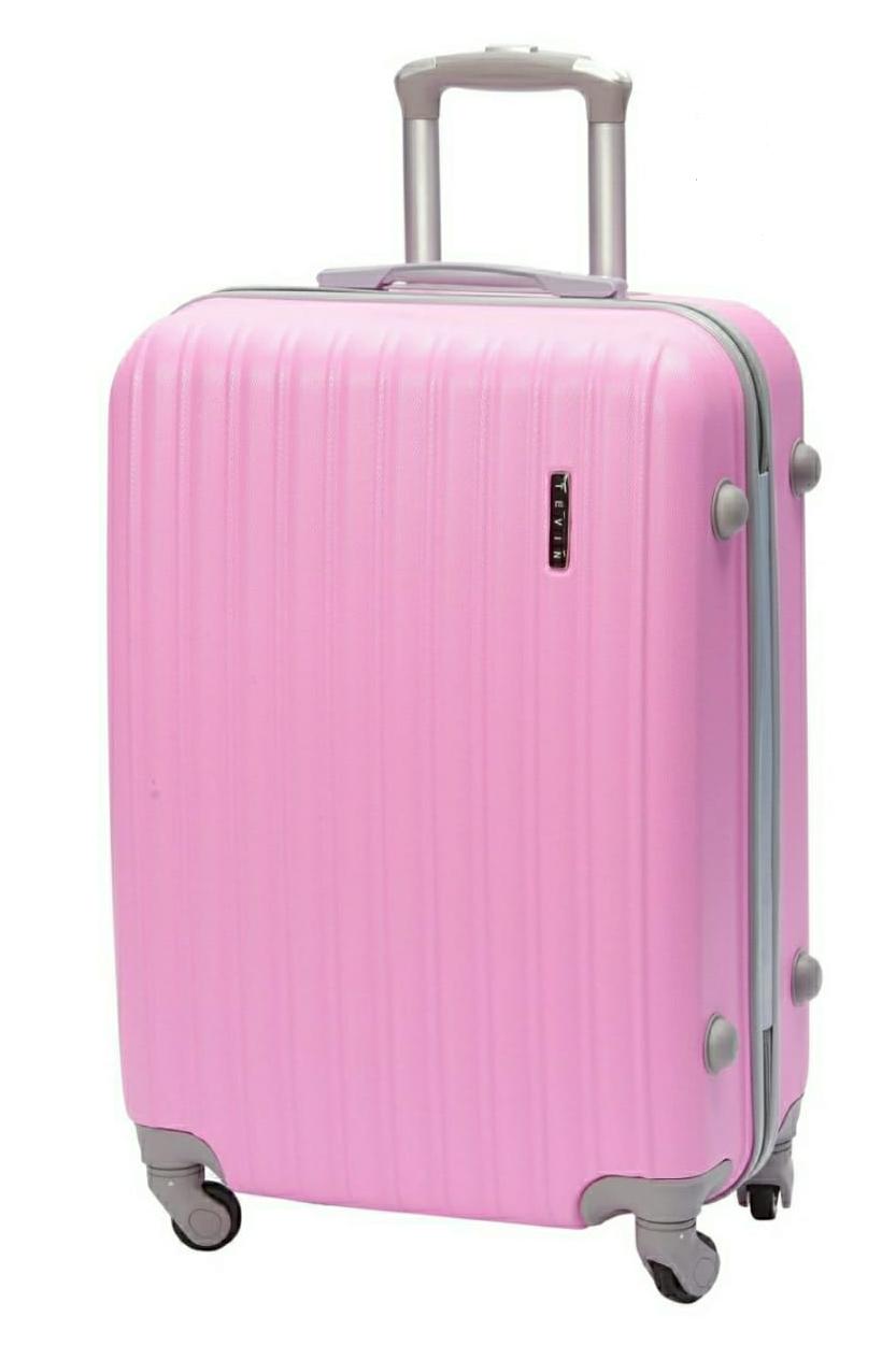 Розовый чемодан для путешествий