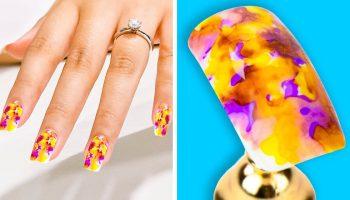 Ногти тай-дай: модный тренд-2020 в области маникюра