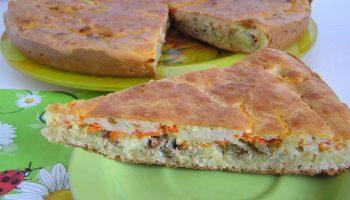Проще простого: рецепт заливного пирога с рыбой и овощами