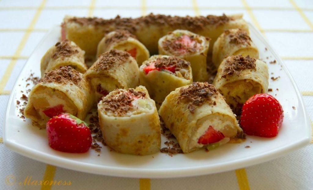Необычная сладость без выпечки: рецепт рулетов из лаваша с творожно-банановой начинкой