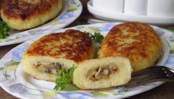 Румяные и ароматные зразы: рецепт с картошкой и грибами к обеду