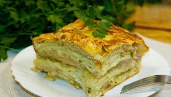 Простая выпечка на скорую руку: рецепт пирога из лаваша с фаршем и кабачком